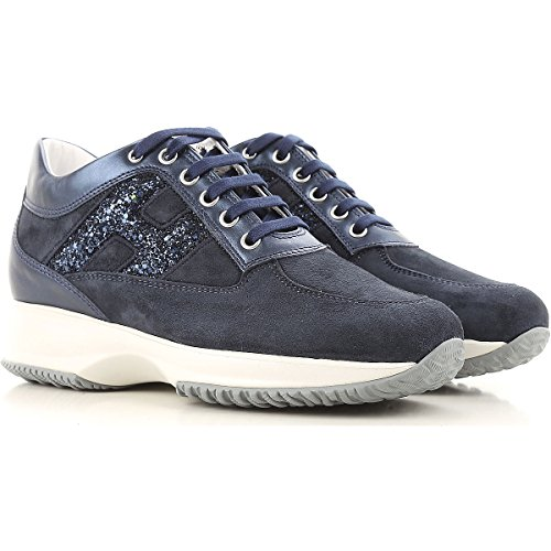 HXW00N0S361IG40QA5 Women's Leather Hogan Blue Sneakers gR0Pgwxq5