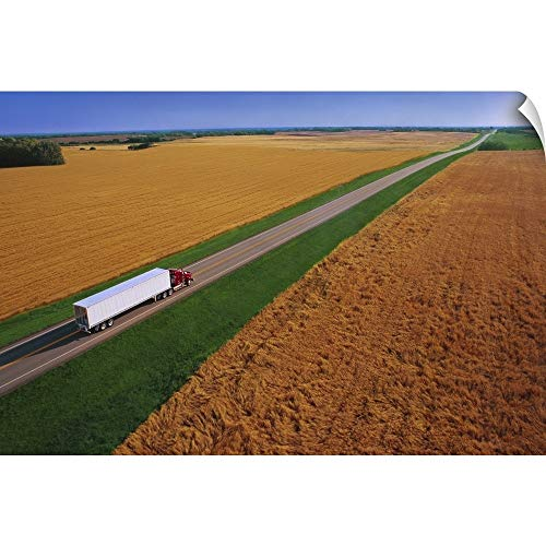 CANVAS ON DEMAND Don Hammond Wall Peel Wall Art Print Entitled Semi-Trailer Truck 60