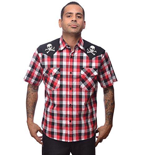 Mens-Steady-Clothing-Chaos-Western-Button-Down-Shirt