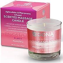 Dona Soy Massage Candle Flirty - Blushing Berry - 4.75 Oz