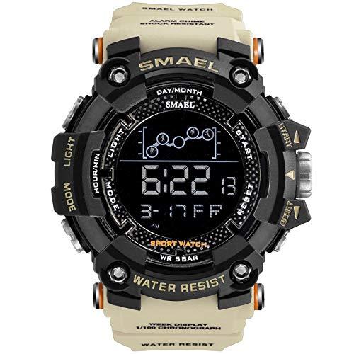Herrklockor vatten militära sportklockor män LED digitala klockor elektroniska armbandsur