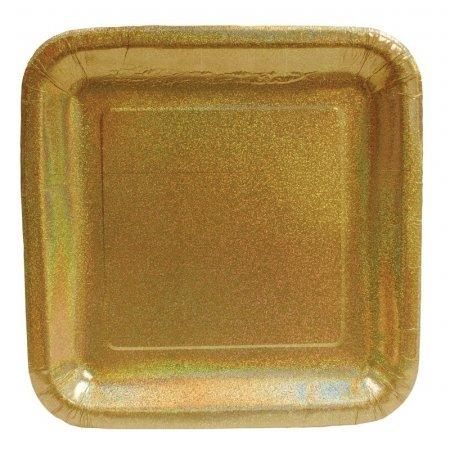 7 Prismatic Plate - 24 Pieces Creative Converting Glitz Gold 7