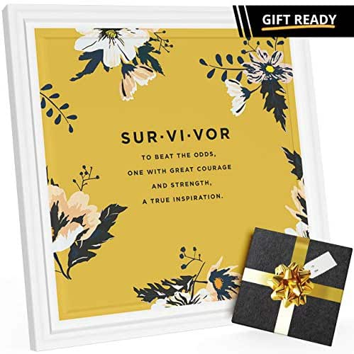 Cancer Survivor Gifts   Special 7x7 Tile Artwork for Cancer Survivors   Inspirational Gifts for Cancer Patients   Ideal Breast Cancer Gift for Women   Presents for Chemo Patient