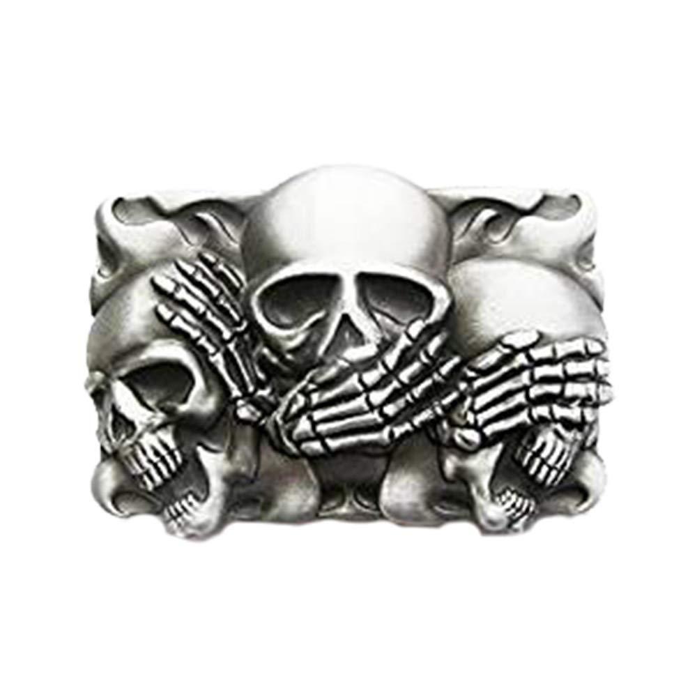 eeddoo Buckle - The Three Skulls - Niente da dire/sentire / dire Z05-07h