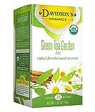 Davidson's Tea Green Tea Garden, 25-Count Tea Bags (Pack of 6)