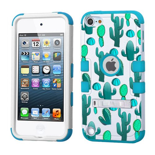 detailed pictures bae56 d9174 PHONETATOOS iPod Touch 5th 6th Generation Case - Hard Shell Case Compatible  with Apple - Shockproof Hybrid 5/6 Cover with Stand for Boys and Girls ...