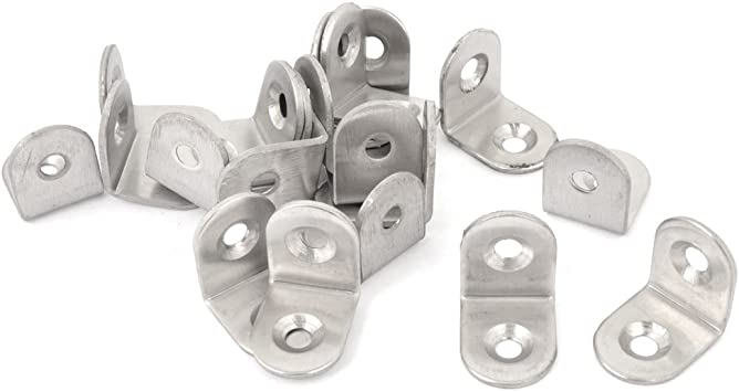 20mm Length Stainless Steel 90 Degree L Shaped Angle Bracket Brace Support 20pcs