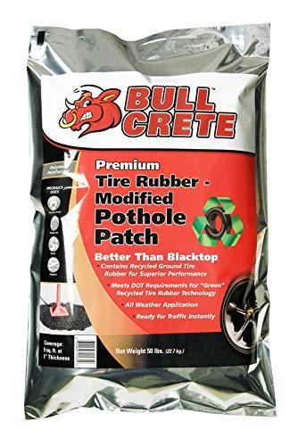 BullCrete Premium Tire Rubber Pothole Patch