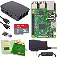 Viaboot Raspberry Pi 3 Complete Kit — 32GB Official Micro SD Card, Official Black/Gray Case Edition