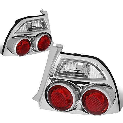 DNA Motoring CLOSE-TLZ-ACD94 Skyline Style Tail Light Chrome [For 94-97 Honda Accord]