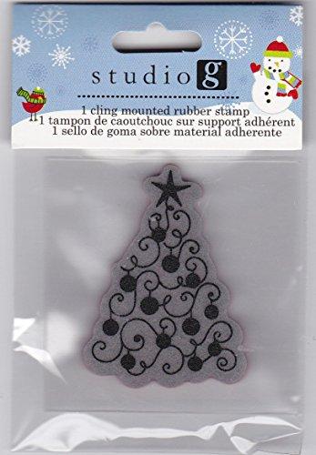 Studio G Cling Stamp Set Christmas - Swirly Christmas Tree