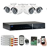 GW Security 4 Channel HDMI CCTV 1.3MP Security Surveillance DVR System with 4 x 1300TVL 720p High Resolution Weatherproof Security Cameras and Pre-Installed 1TB Hard Drive Review