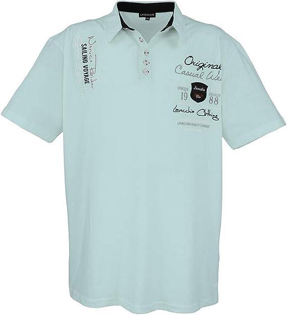 Lavecchia Shirt Polo Polo Polo Noir Taille 3xl 4xl 5xl 6xl 7xl 8xl 4688