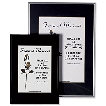 Photo Frame with Styrene Front Silver A4: Amazon.co.uk: Office Products