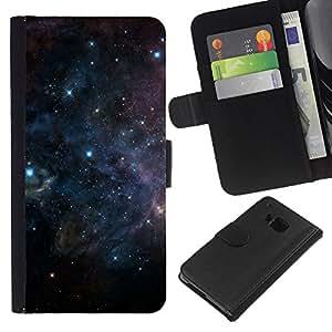 iBinBang / Flip Funda de Cuero Case Cover - Universo Cosmos oscuro Espacio Estrellas Esperanza - HTC ONE M9