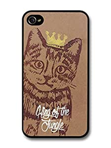 Cute Cool cat Illustration with Crown Cool Fashion Style For Samsung Galaxy S5 Mini Case Cover
