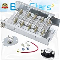 279838 & 279816 Dryer Heating Element With Dryer Thermostat Kit by Blue Stars - Exact Fit for Whirlpool & Kenmore Dryer
