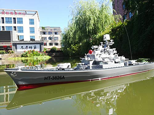 SOWOFA Louisiana Class Cruiser RC Warship 24 inch Super Long Hull RC Boat Charging Military Children's Toy boy Electric Toy Ship Aircraft Carrier Warship Model can Launch