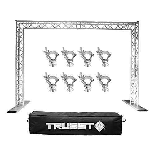 Chauvet Trusst Post Kit Lighting Truss System + Transport Case + 8 Truss Clamps