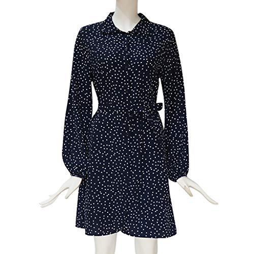 8efc65aca SHOPUS | TANGSen Fashion Women Casual Puff Sleeve Dot Print Dress ...