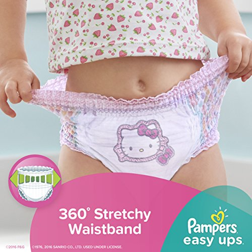 Large Product Image of Pampers Easy Ups Training Pants Pull On Disposable Diapers for Girls Size 5 (3T-4T), 148 Count, ONE MONTH SUPPLY