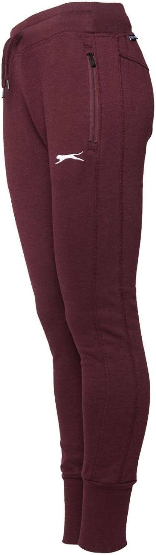 Slazenger - Pantalón Deportivo - para Mujer Rojo Ciruela 38 ...