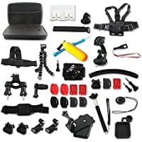 UniHobby 52-In-1 Outdoor Sports Action Camera Accessories Kit for GoPro Hero4/3/2/1 SJCAM SJ4000 5000 6000 7000 Xiaomi Yi Amkov Git1 Git2 SOOCOO C30 S70