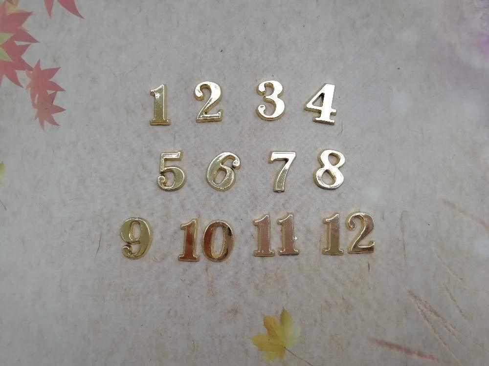 Maslin 50Sets 1.5CM Plastic Gold Arabic Numbers for DIY Quartz Clock Accessories