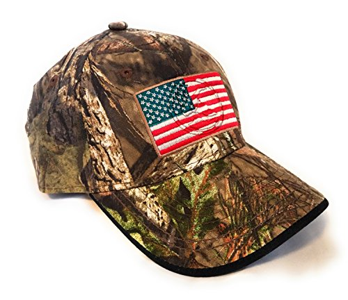 Mossy Oak Camping, Hunting, Outdoors American Flag Camo Cap, Army Military Camo Cap Baseball, Camouflage Hat by Mossy Oak
