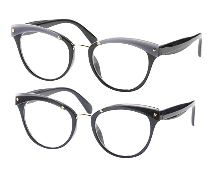 4a0683d1333 SOOLALA Womens Designer Cat Eye Reading Glass Large Prescription Eyeglass  Frame
