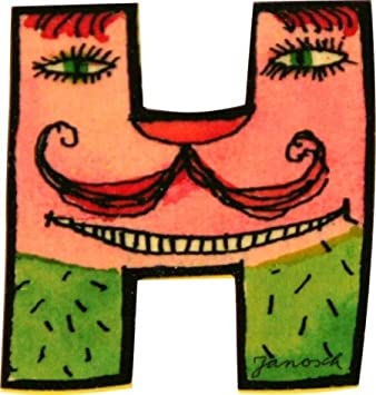 Janosch Buchstaben Holzbuchstaben Q ca 6cm