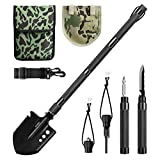 ENKEEO Military Folding Shovel Multitool for Scout, Hiking, Backpacking, Adventure Cycling, Dry Camping, Trenching, Emergency and Survival