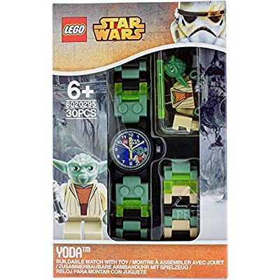 LEGO Watches Star Wars Yoda Kids Buildable Watch with Link Bracelet and