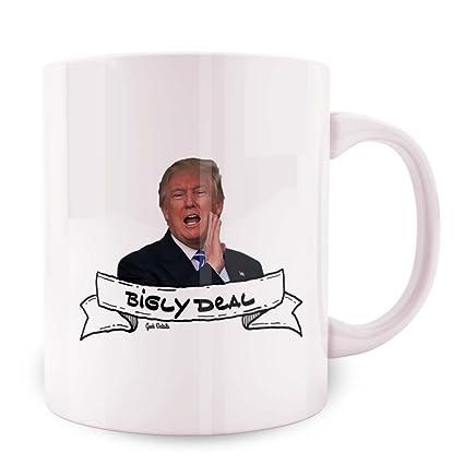 80636dc68b2 Amazon.com: Geek Details Anti Trump Themed Coffee Mug, 11 Oz, White ...