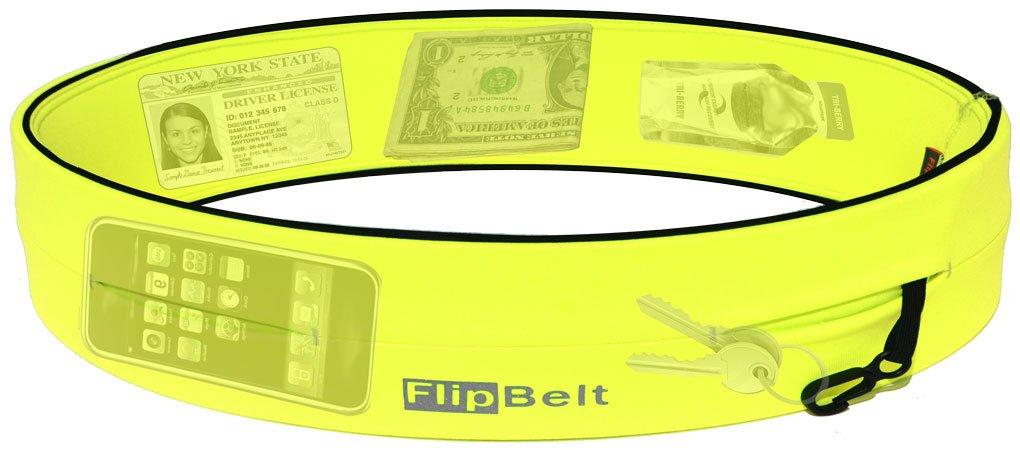 FlipBelt Level Terrain Waist Pouch, Neon Yellow, X-Small/22-25'' by FlipBelt (Image #2)