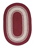 Cheap Colonial Mills North Ridge Red Oval 2'0″x4'0″ Braided Area Rug