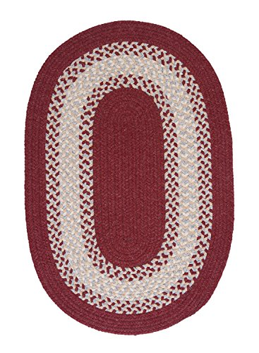 "Colonial Mills North Ridge Red Oval 12'0""x15'0"" Braided Area Rug made in Rhode Island"