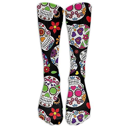 Dead Sugar SkullKnee High Graduated Compression Socks For Women And Men - Best Medical, Nursing, Travel & Flight Socks - Running & Fitness