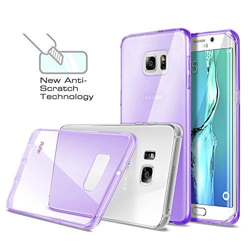S6 Edge Plus Case, Profer [Anti-Scratches] and [Drop Protection] Soft TPU Gel [Ultra Slim] Premium Flexible?Soft Bumper Rubber Protective Case Cover for Samsung Galaxy S6 Edge Plus (Purple)