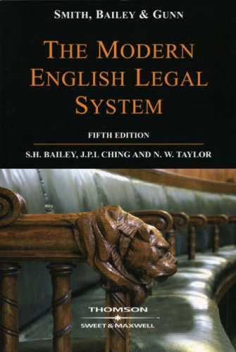 Smith, Bailey & Gunn on The Modern English Legal - Bailey Maxwell