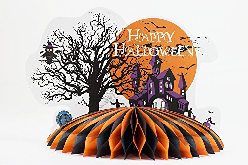 Zombie and Haunted house theme table centerpieces for Halloween party decoration (Orange)