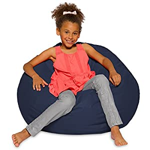 "Posh Bean Bag Chair for Children, Teens & Adults - 27"", Solid Navy Blue"