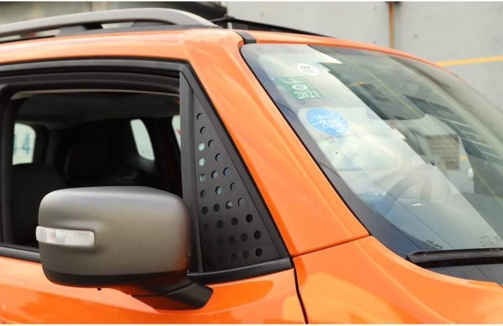 f/ür Jeep Renegade 2016-2019 XLTWKK Autoseite Heckscheibe Spoiler Chromabdeckung Trim Triangle Garnish L/ünette Zubeh/ör