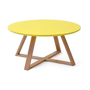 Amazonde Massivholz Couchtisch Rund Creative Tee Tisch Kleine
