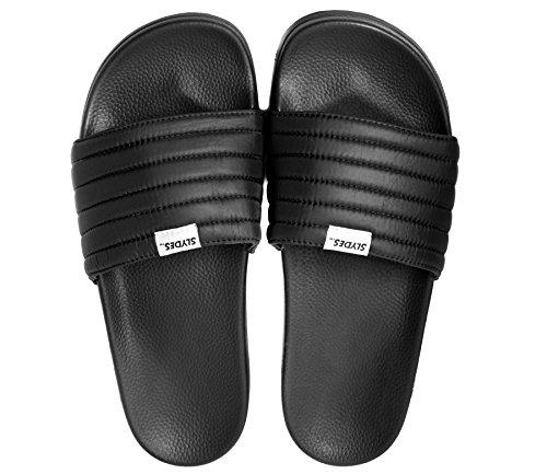 Slydes West Black Men's Slider Sandals