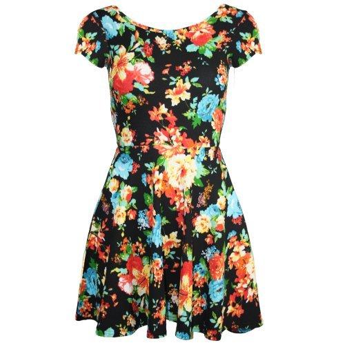 Pure Fashion Damen Skater-Kleid Mehrfarbig