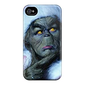 Shock-Absorbing Hard Phone Cover For Iphone 6 With Unique Design Vivid The Grinch Skin JoanneOickle