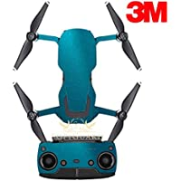 SopiGuard 3M Gloss Teal Precision Edge-to-Edge Coverage Vinyl Sticker Skin Controller 3 x Battery Wraps for DJI Mavic Air