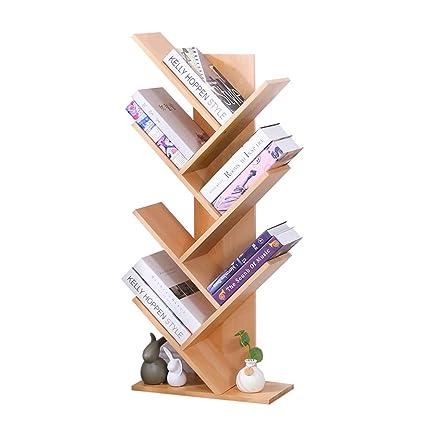 Bookcases Simple Bookshelf Racks Student Study Bedroom Small Creative Tree Shape Color
