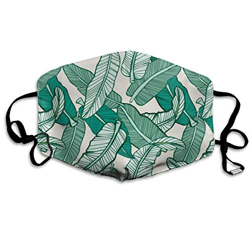 (Fresh Banana Leaves Allergy & Flu Mask - Comfortable, Washable Protection from Dust, Pollen, Allergens, Cold & Flu Germs Antimicrobial, Asthma Mask)